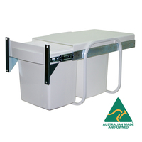 KRB06D - 30L Twin Bin Waste Separation System Door Mounted