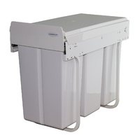 KRB32 - 30L Triple Slim Line Slide Out Waste Bin