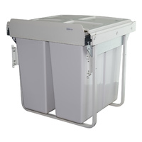KRB40D - 68L Door Mount Twin Slide Out Waste Bin