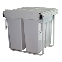 KRB41D 68L Door Mount Triple Slide Out Waste Bin