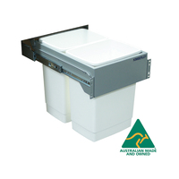 KRB60E - 60L Door Mount Slide Out Twin Kitchen Waste Bin