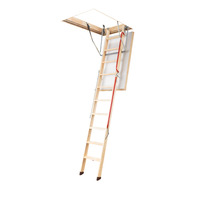 Fakro LWL Extra Timber Attic Ladder 2600 - 2800mm ceiling height range