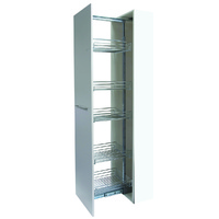 KPC400 - Pull Out Pantry Chrome - suits 400mm cabinet