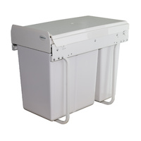 KRB30 -30L Slim Twin Slide Out Kitchen Waste Bin