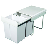 KRB31 - 40L Twin Slide Out Kitchen Waste Bin