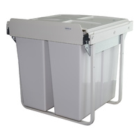 KRB40 - 68L Handle Pull Twin Slide Out Waste Bin