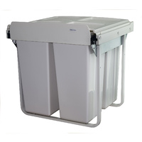 KRB41 - 68L Handle Pull Triple Slide Out Waste Bin